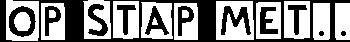 Op Stap met logo line white